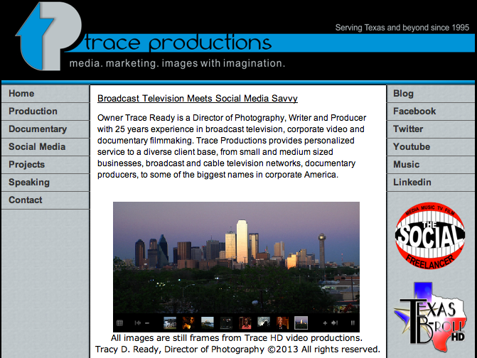 Trace Productions  media. marketing.  Images with Imagination.